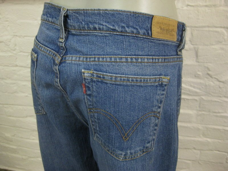 levis straight leg 505 coole damen jeans hose blau denim ebay. Black Bedroom Furniture Sets. Home Design Ideas